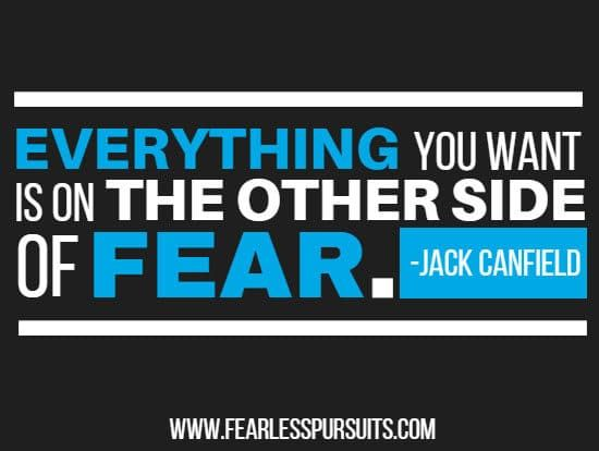 living in fear, jack canfield quotes